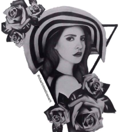 Lana Del Ray Drawing Sticker