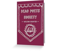 Society Crest (Transparent White) Greeting Card