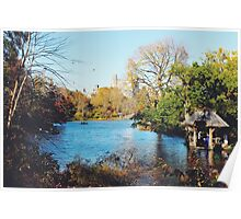Central Park Lake - Tinted Poster
