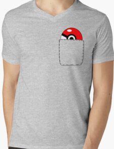 Pokeball Pocket Mens V-Neck T-Shirt