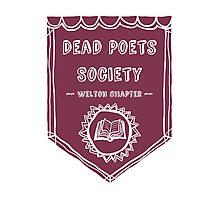 Society Crest (Burgundy) Photographic Print