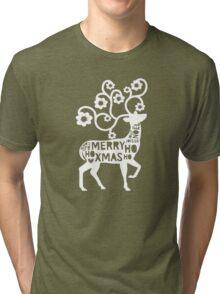 God Jul -  Merry Christmas Scandinavian  Tri-blend T-Shirt