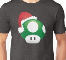 Super Mario 1Up Christmas Mushroom Unisex T-Shirt