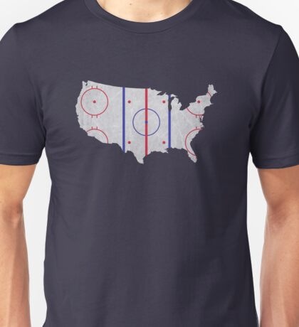 USA Hockey Pride Map Unisex T-Shirt