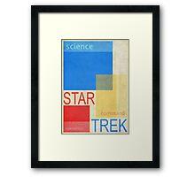 Star Trek - Swiss Modern (Science, Command, Operations) Framed Print
