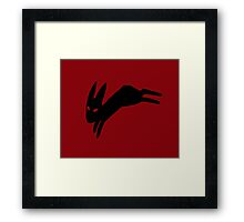 Black Rabbit Framed Print