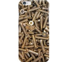 screws as  background iPhone Case/Skin