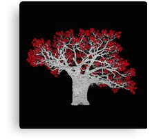 Red Heart Tree Canvas Print