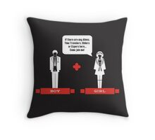 Boy Meets Girl Throw Pillow