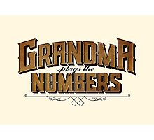 Grandma Plays the Numbers Photographic Print