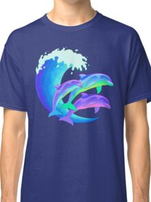 Psychedelic Dolphins Classic T-Shirt