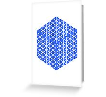 blue cube Greeting Card