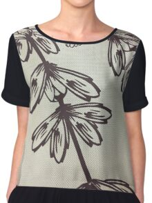 Flower pattern  Chiffon Top