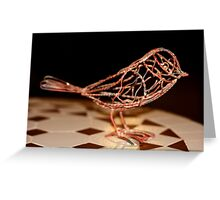 Little Birdie of Wire Greeting Card