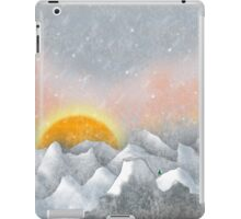 Alone in a Sunrise Snowstorm iPad Case/Skin