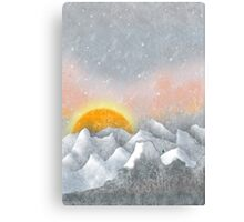 Alone in a Sunrise Snowstorm Canvas Print