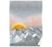 Alone in a Sunrise Snowstorm Poster