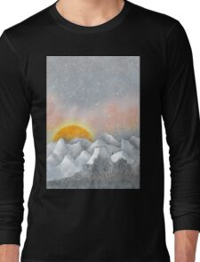 Alone in a Sunrise Snowstorm Long Sleeve T-Shirt