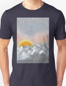 Alone in a Sunrise Snowstorm T-Shirt