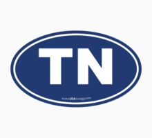 Tennessee TN Euro Oval BLUE Kids Clothes