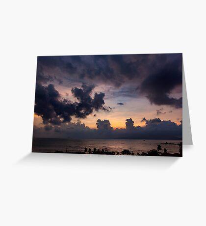 Morning Sky In Vietnam Greeting Card