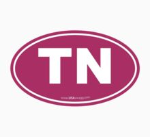 Tennessee TN Euro Oval PINK Kids Clothes