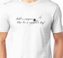 Sonnet 18 (Black) Unisex T-Shirt