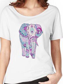 purple tribal elephant Women's Relaxed Fit T-Shirt