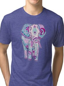 purple tribal elephant Tri-blend T-Shirt