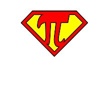 Nerd Things - Superman got Pi power Photographic Print