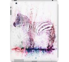 Watercolor Wash Zebra iPad Case/Skin