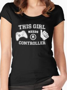 This Girl Needs A Controller Women's Fitted Scoop T-Shirt