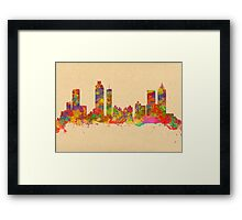 Skyline of Atlanta Georgia USA Framed Print
