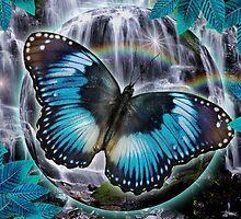 Blue Butterfly by Alixandra Mullins