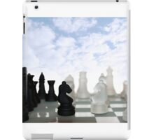 chess pieces isolated against blue sky iPad Case/Skin