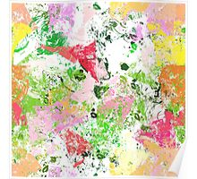 Abstract colour paint Poster
