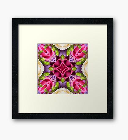 Kaleidoscope | Spring Flowers 4 Framed Print