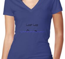 Swimmer - Last Lap Women's Fitted V-Neck T-Shirt