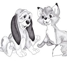 Disney The Fox and the Hound by vknight1989