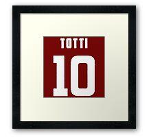 Totti Number 10 Framed Print
