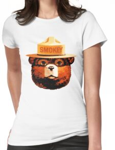 Smokey The Bear Womens Fitted T-Shirt