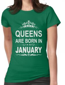 Queens are born in January christmas shirt Womens Fitted T-Shirt