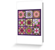 Kaleidoscope   Flower Quilt Greeting Card