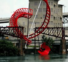 Nashville's Riverfront Sculpture  by Karen  Helgesen