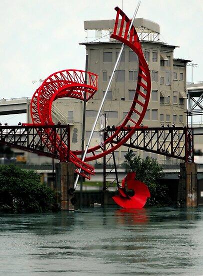 Nashville's Riverfront Sculpture  by Karen  Helgesen
