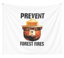 Smokey The Bear Prevent Forest FiresT-Shirt Wall Tapestry