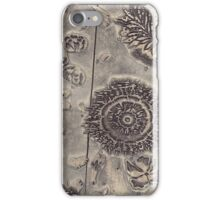 Antique Textile Wood Printing Block iPhone Case/Skin