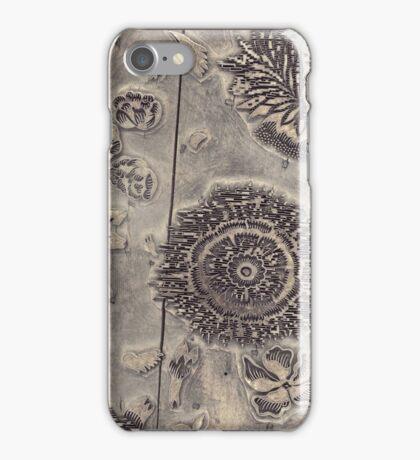 Antique Textile Wood Printing Block iPhone Case/Skin
