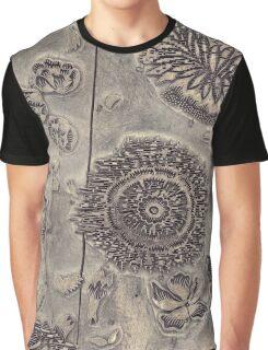 Antique Textile Wood Printing Block Graphic T-Shirt