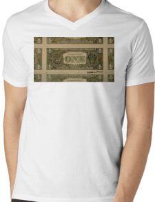 Dollar Bill Mens V-Neck T-Shirt